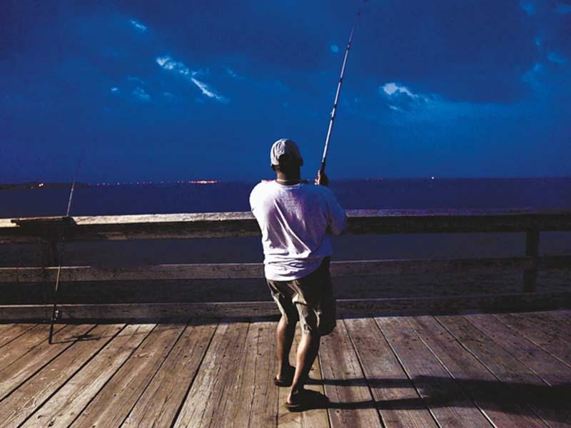 pesca en el muelle